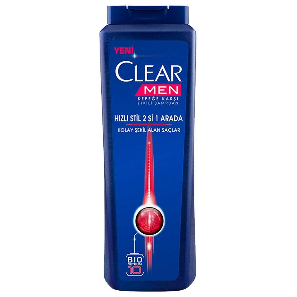 Hızlı Stil 2'si 1 Arada Erkek Şampuanı 550 ml