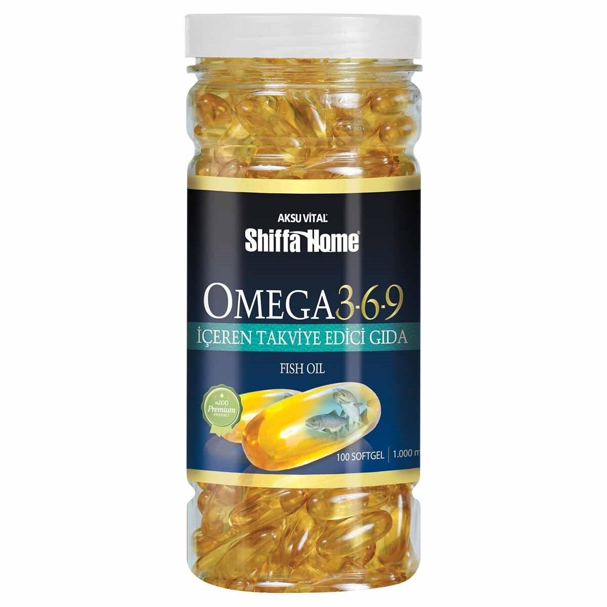 Omega 3-6-9 Kapsül Soft Gel 100'lü