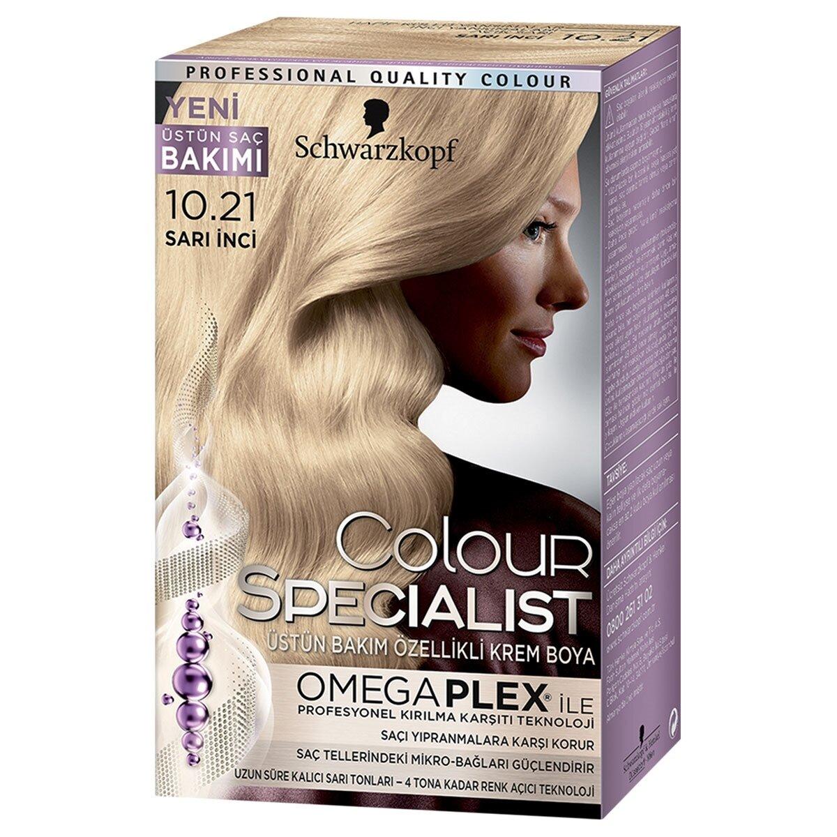 Colour Specialist Saç Boyası Sarı İnci 10-21