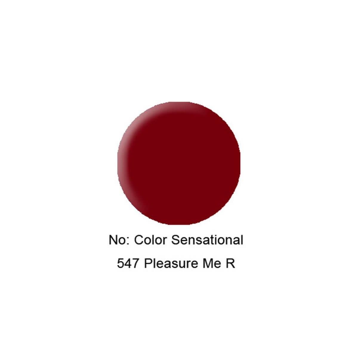 Color Sensational Ruj 547 Pleasure Me Red