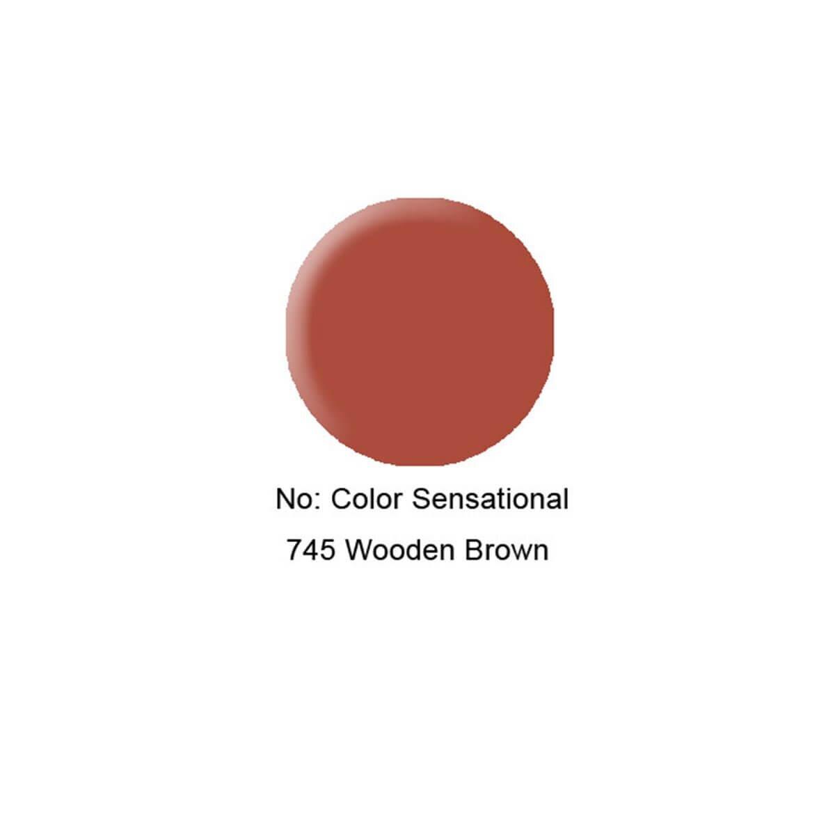 Color Sensational Ruj 745 Wooden Kahverengi