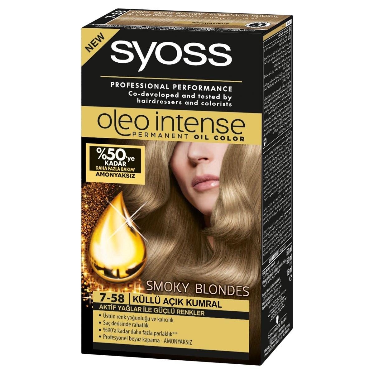 Oleo Saç Boyası No 7 58 Küllü Bej Sarı Syoss Watsons