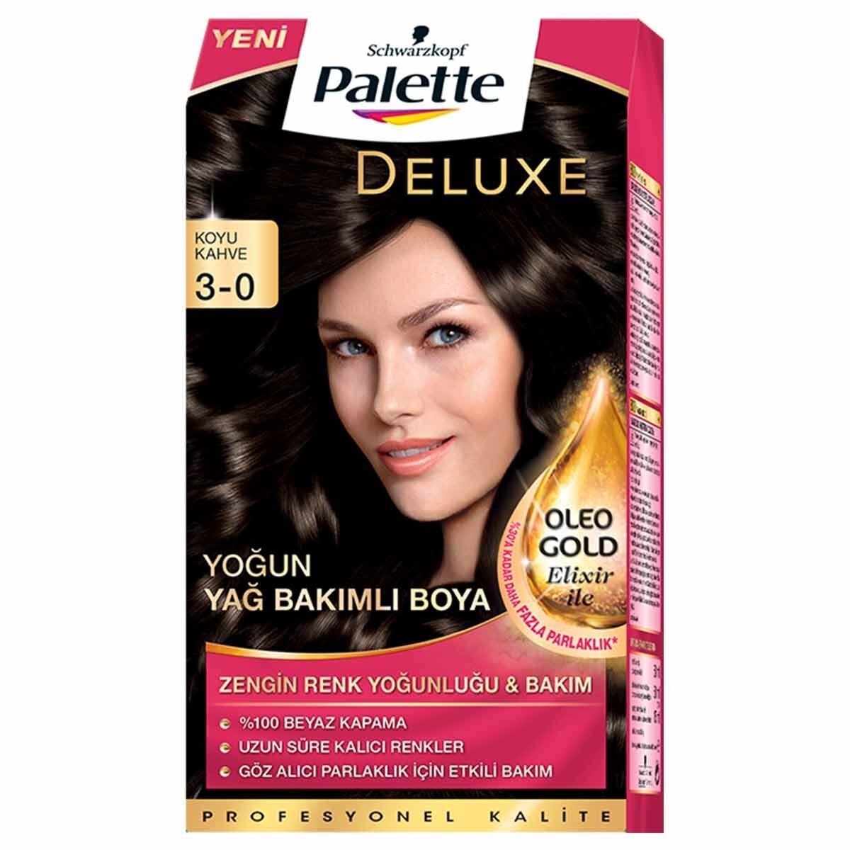 Deluxe Saç Boyası 3-0 Koyu Kahve