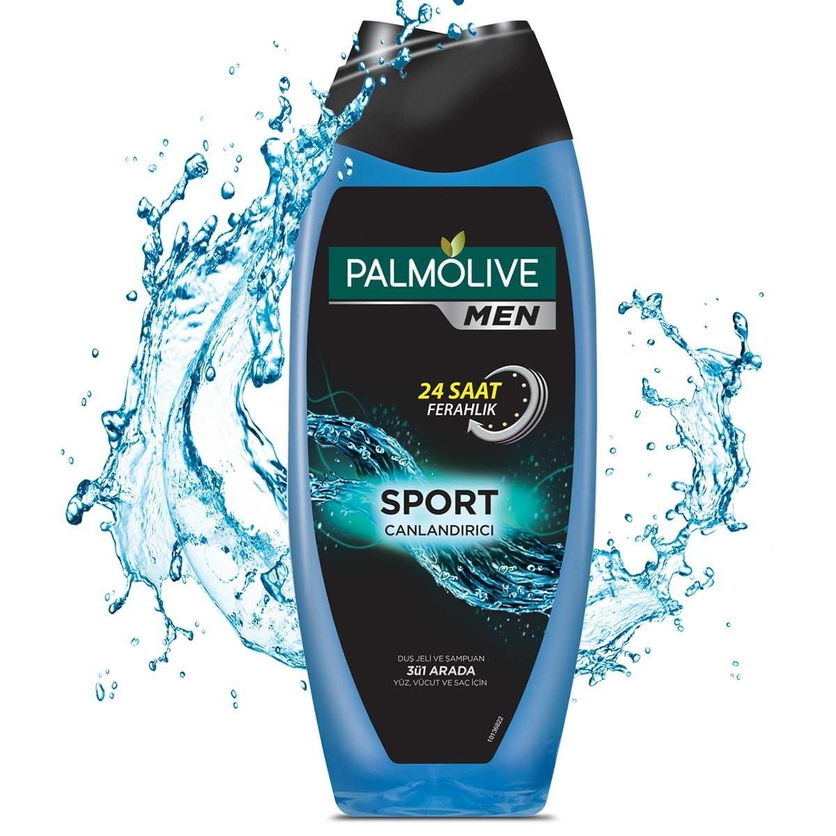 Men Sport 3ü 1 Arada Canlandırıcı Erkek Duş Jeli Yüz Vücut Saç 500 ml