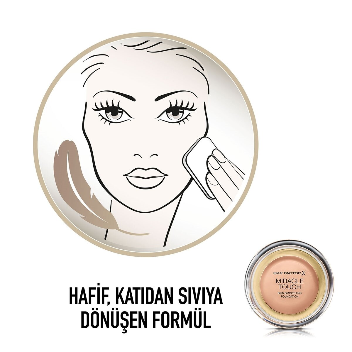 Miracle Touch Compact Fondöten No. 055