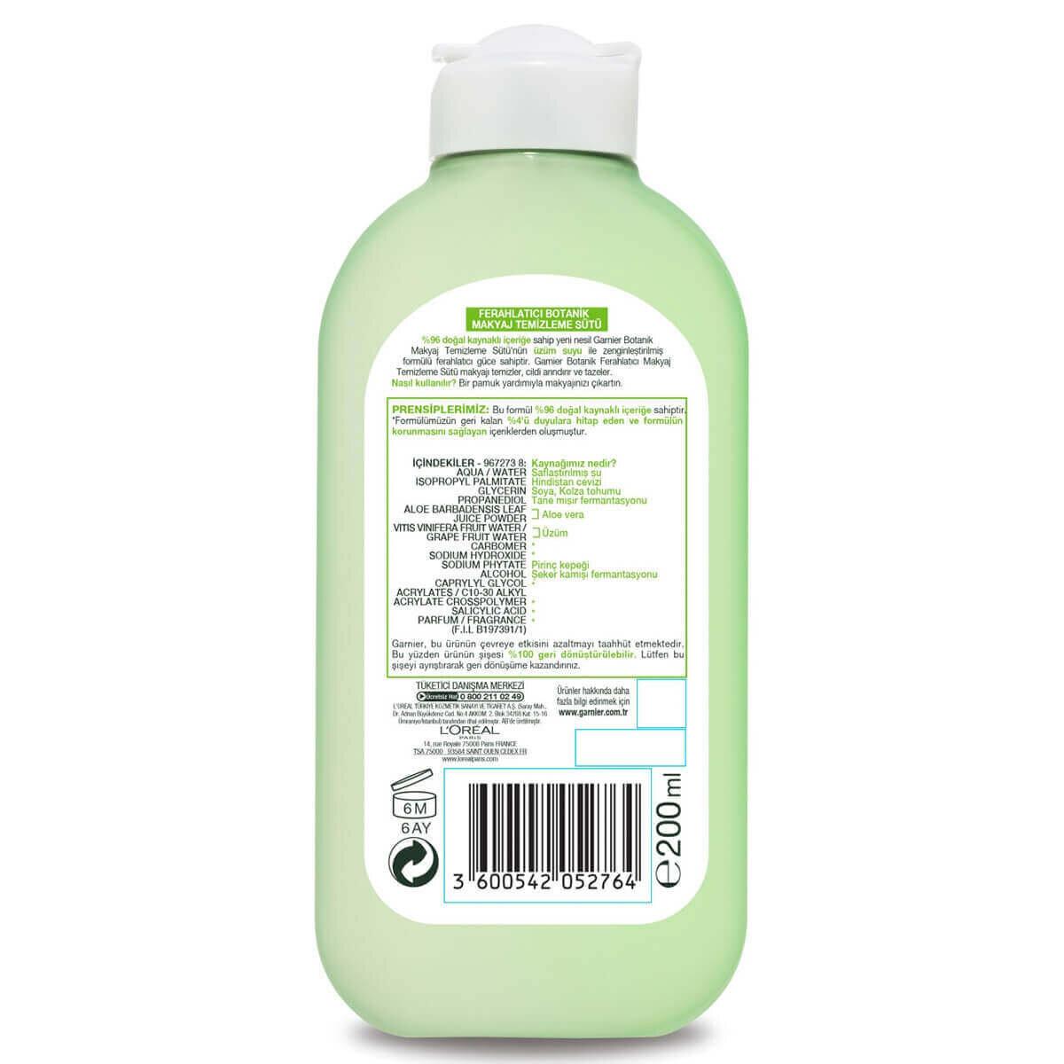 Botanik Ferahlatıcı Üzüm Temizleme Sütü 200ml