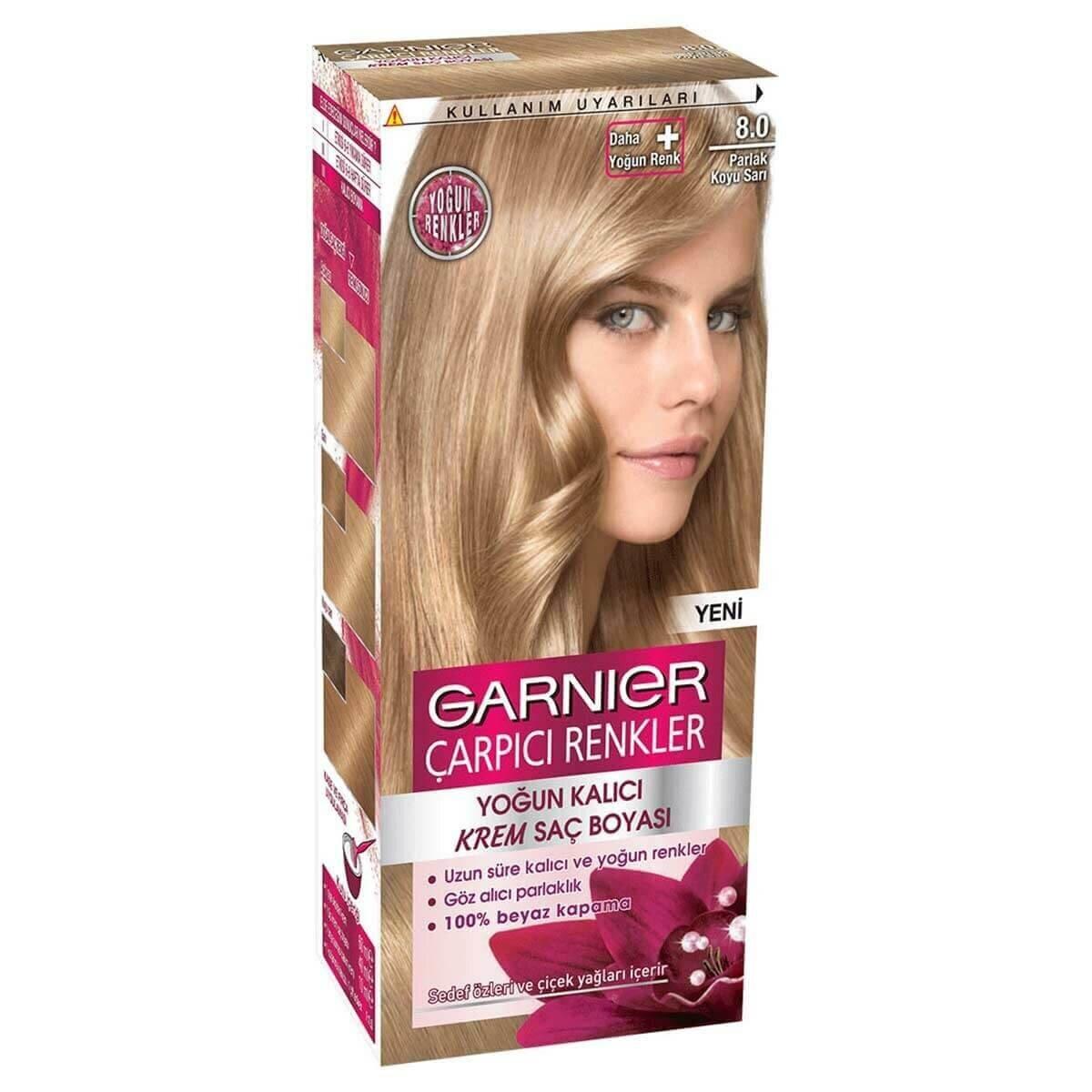 çarpıcı Renkler Saç Boyası 8 Parlak Koyu Sarı Garnier Watsons