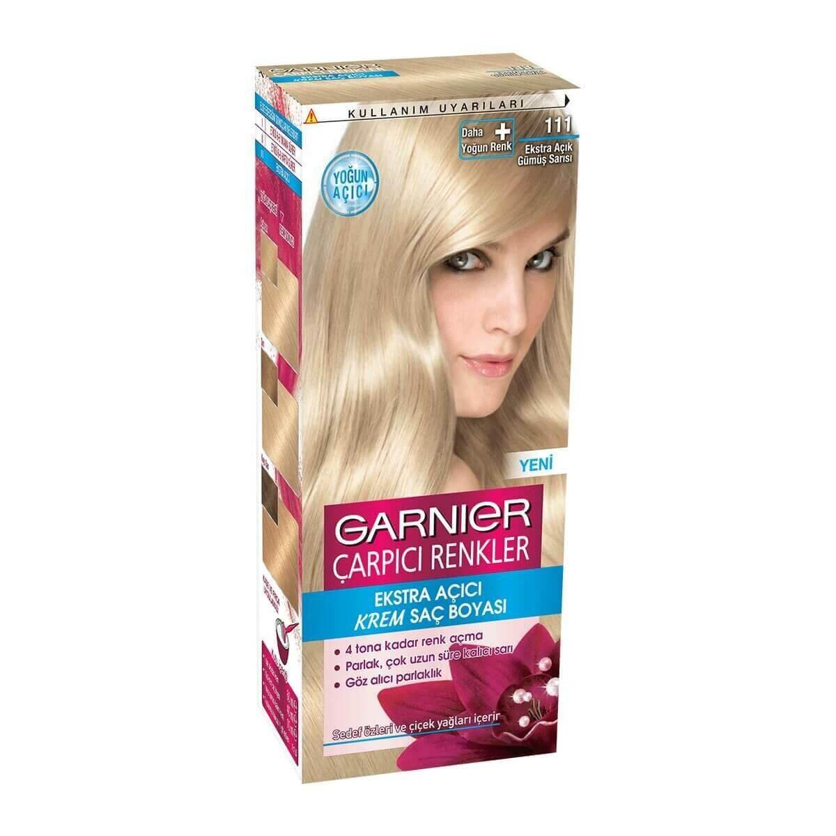 çarpıcı Renkler Saç Boyası 111 Ekstra Açık Gümüş Sarısı Garnier