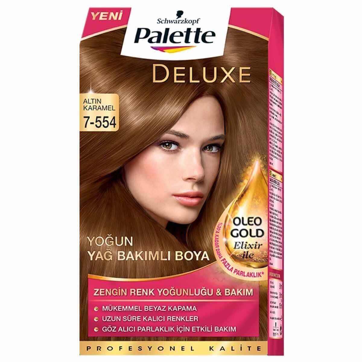 Deluxe Saç Boyası 7 554 Altın Karamel Palette Watsons