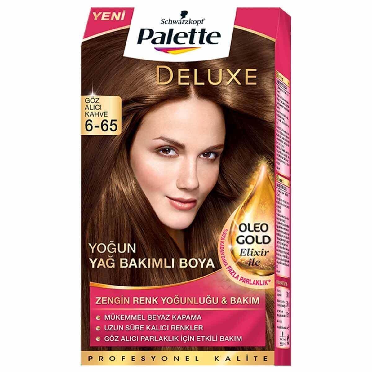 Deluxe Saç Boyası 6-65 Altın Parıltılı Kakao