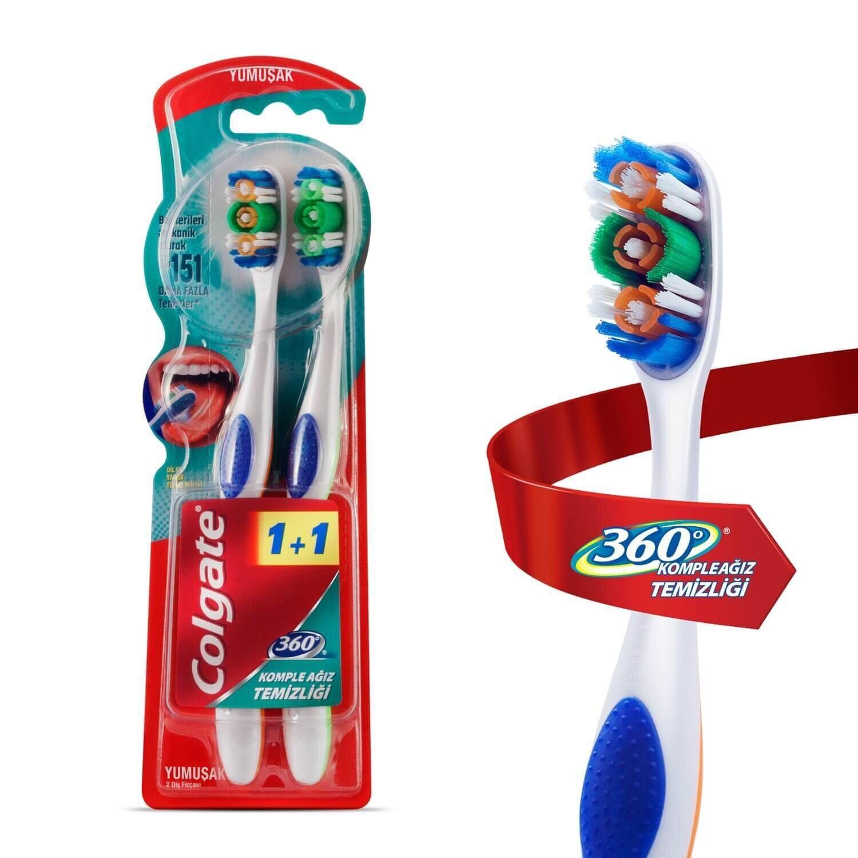 360 Derece Yumuşak Diş Fırçası 1+1
