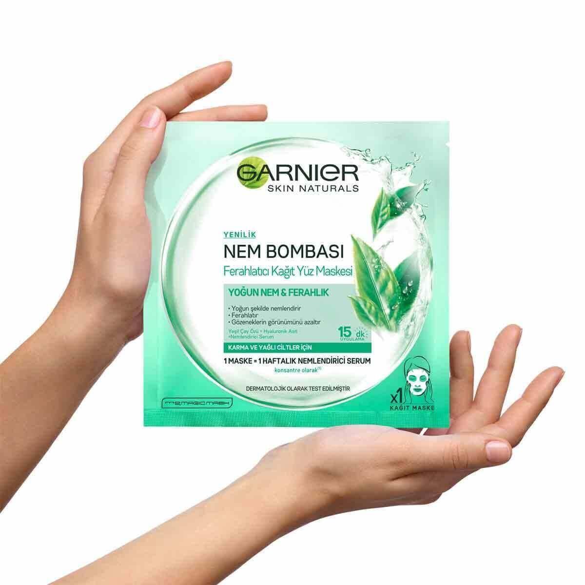Nem Bombası Kağıt Maske Yeşil Çay Özü