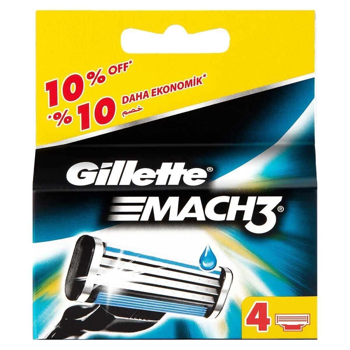 Mach3 Yedek Tıraş Bıçağı 4'lü