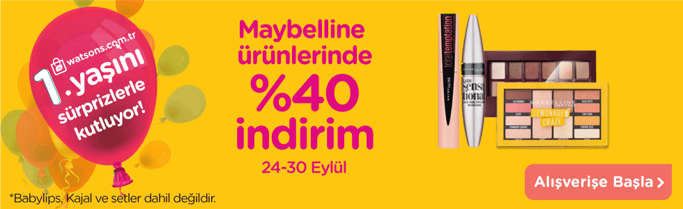 Maybelline 24-30 Eylül