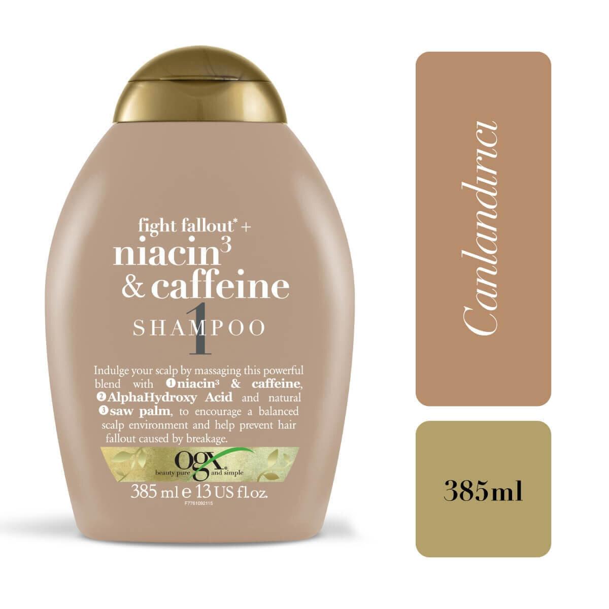 Dökülme Karşıtı Niacin & Caffeine Şampuan 385 ml