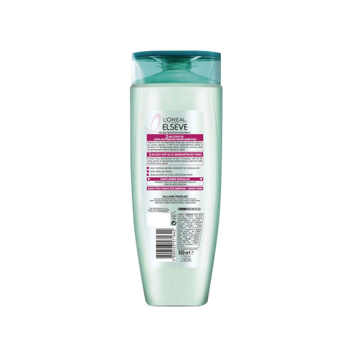 Mucizevi Kil Şampuan 550 ml