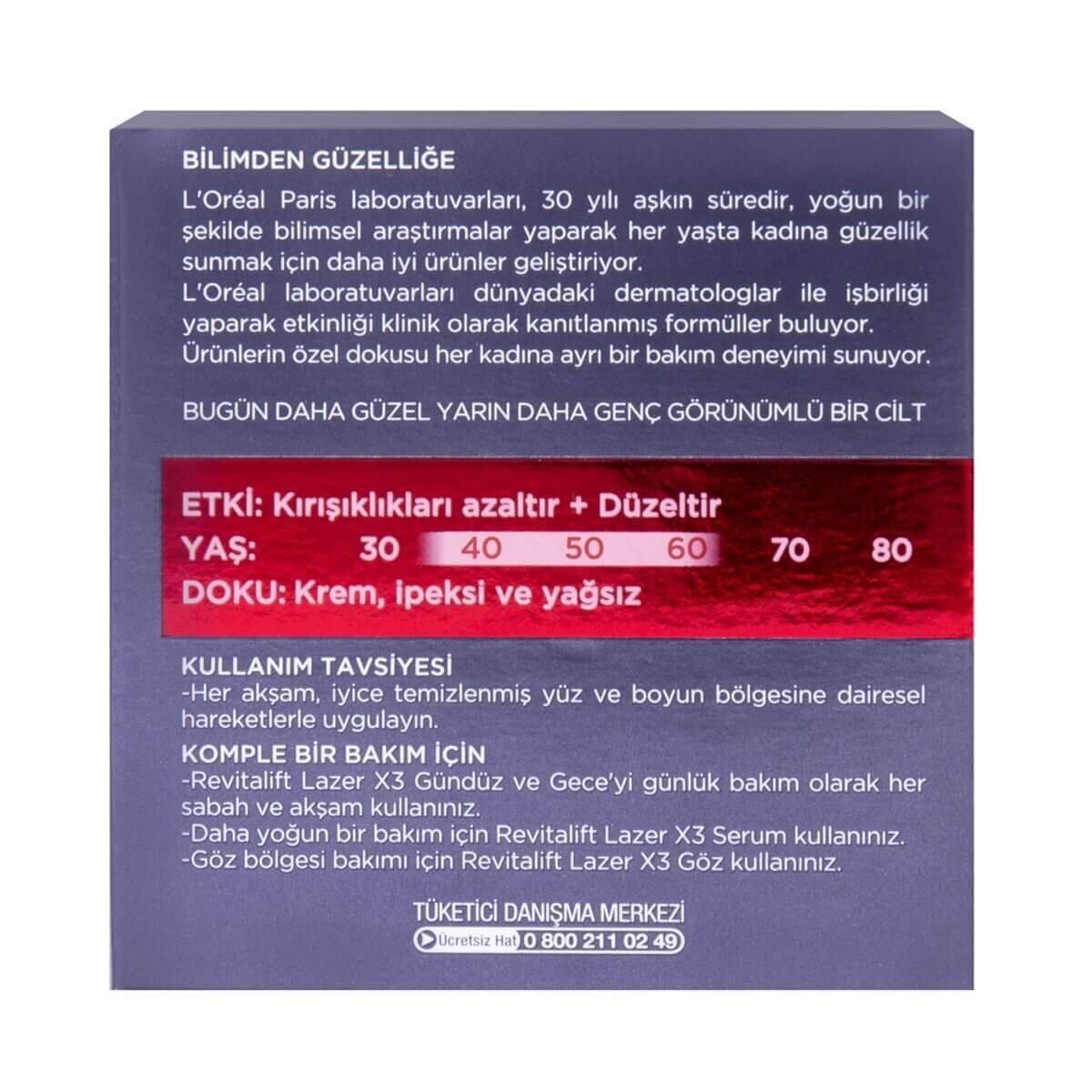 Revitalift Laser Gece 50ml