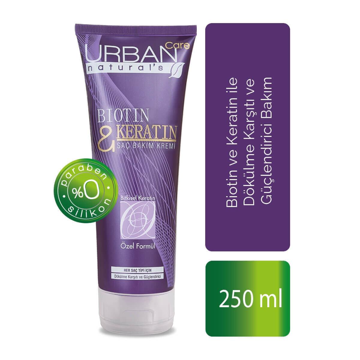 Biotin & Keratin İçeren Dökülme Karşıtı Saç Bakım Kremi 250 ml
