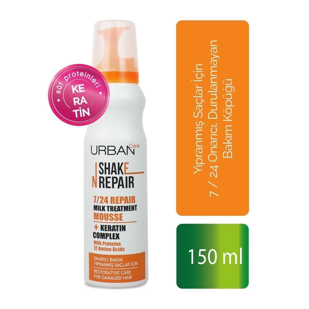 7/24 Shake Repair Milk Treatment Saç bakım Köpüğü 150ml