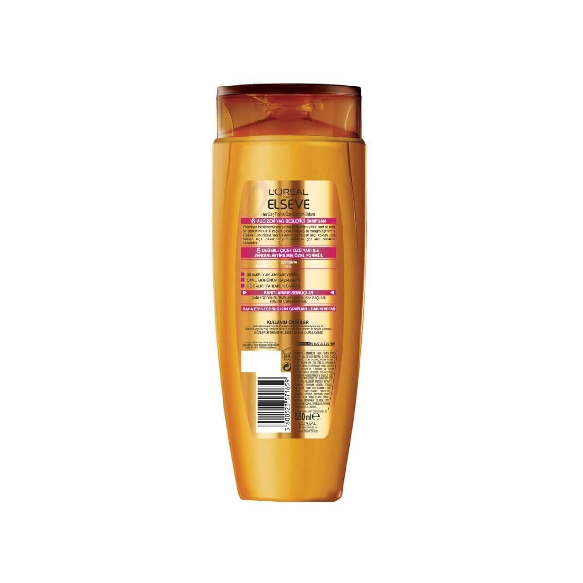 6 Mucizevi Yağ Şampuan 550 ml