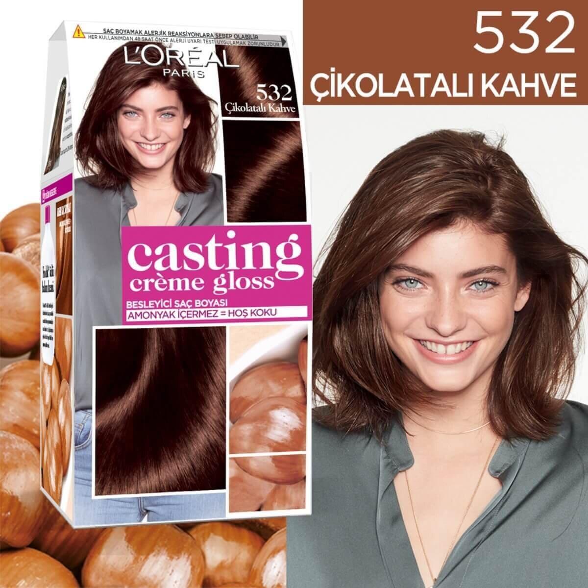Amonyaksız Besleyici Saç Boyası Çikolatalı Kahve 532