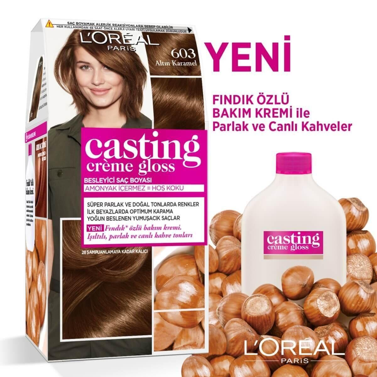 Amonyaksız Besleyici Saç Boyası Altın Karamel 603