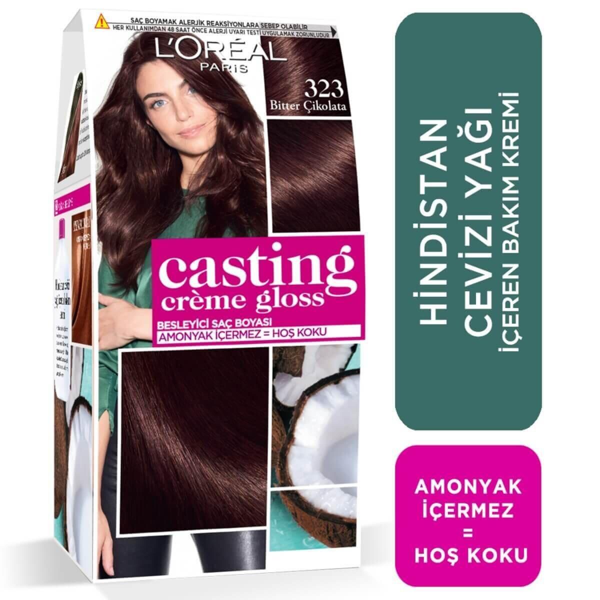 Amonyaksız Besleyici Saç Boyası Bitter Çikolata 323