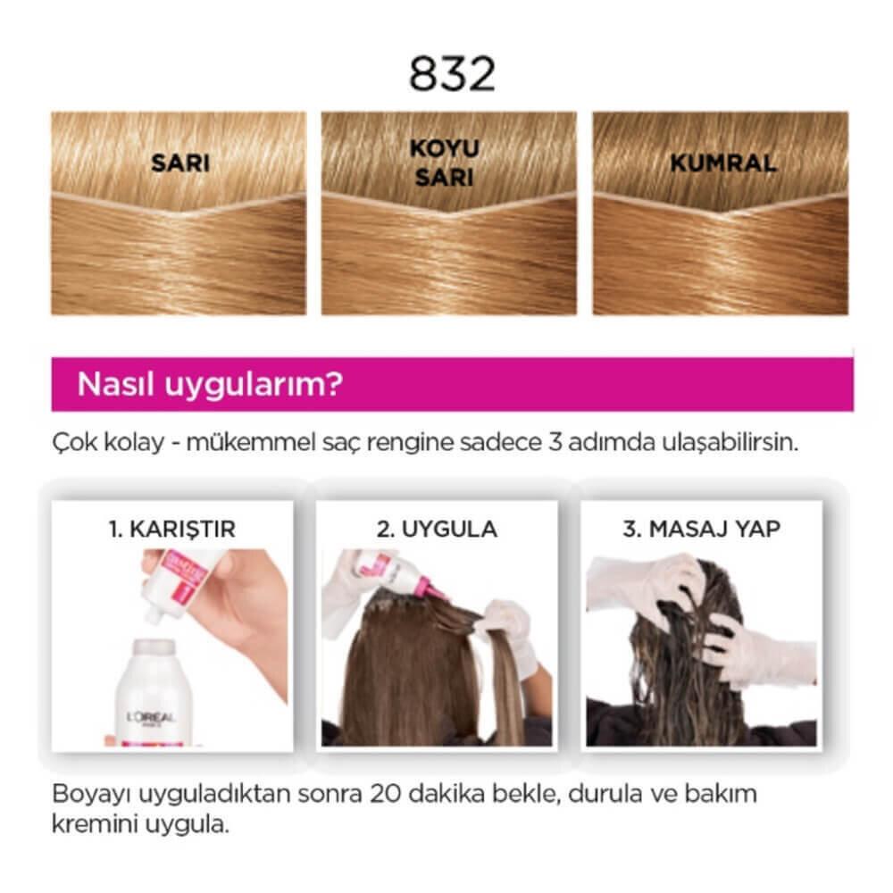 Amonyaksız Besleyici Saç Boyası Bal Köpüğü 832