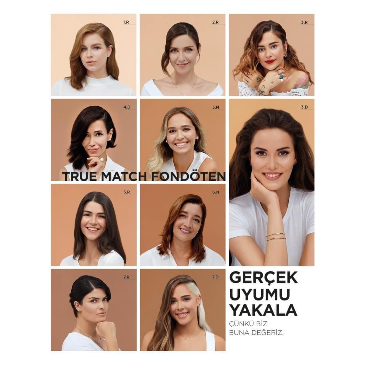 True Match Fondöten 3R3C3K Bej Rose