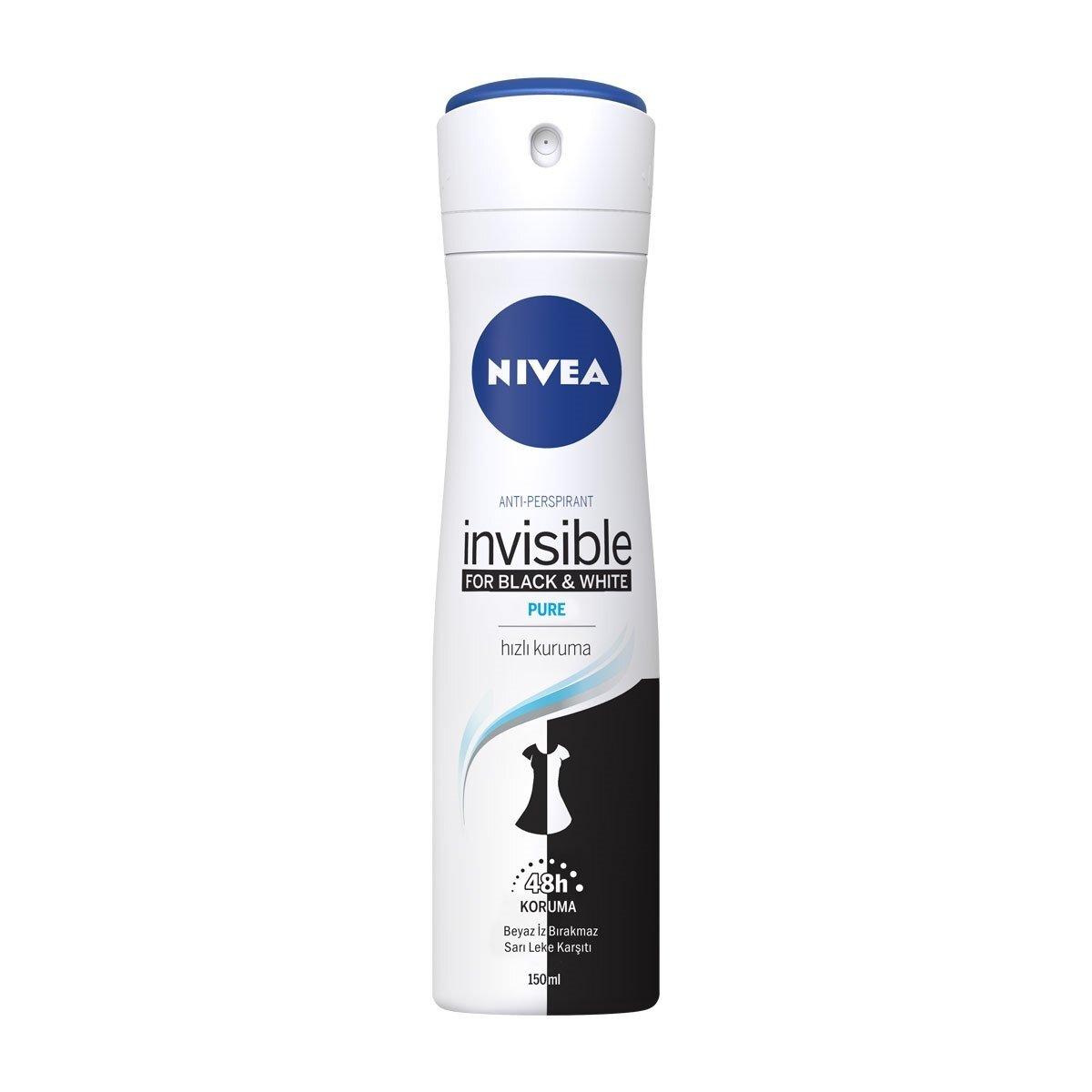 Invisible Black and White Pure Kadın Deodorant 150 ml