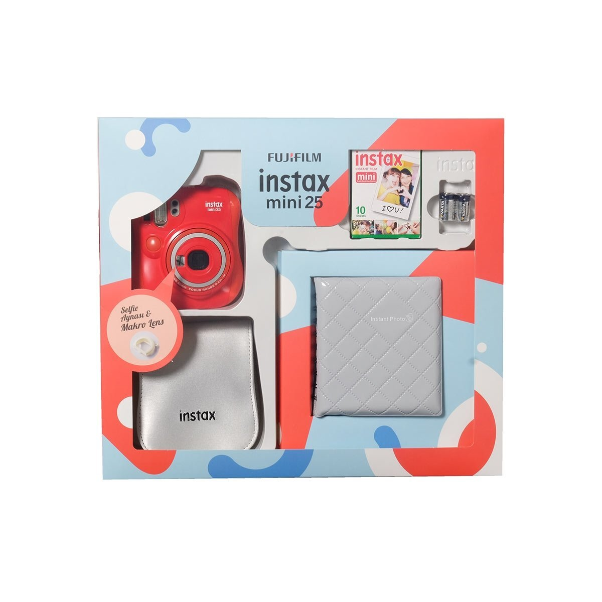 Instax Mini 25 Box Kırmızı