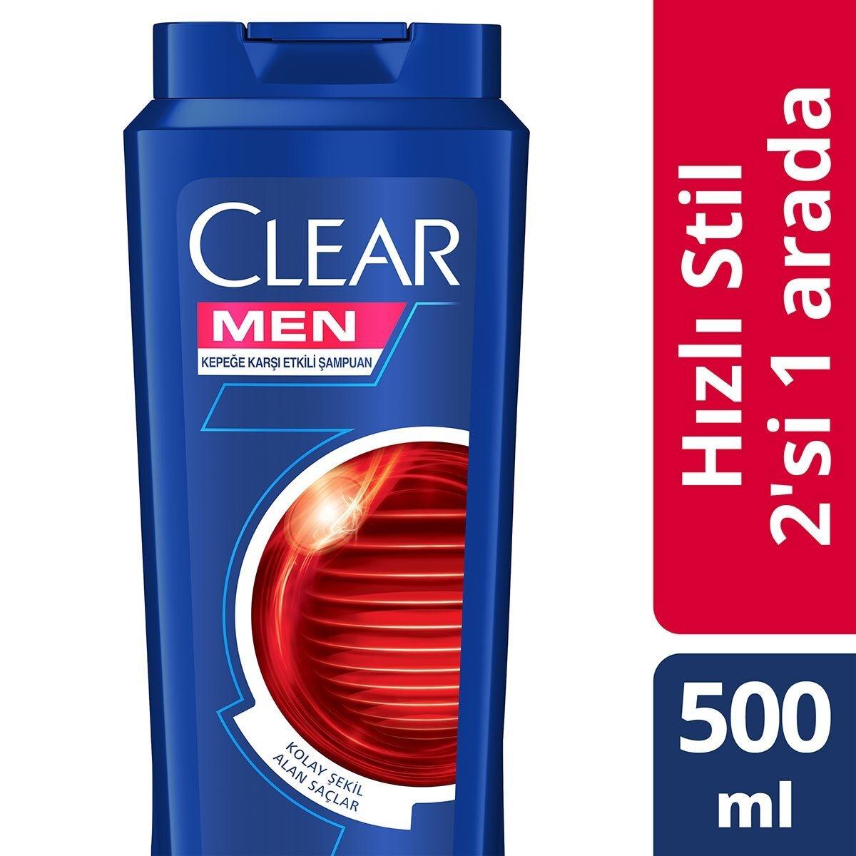 Hizli Stil 2si1 Arada Erkek Şampuan 500ml
