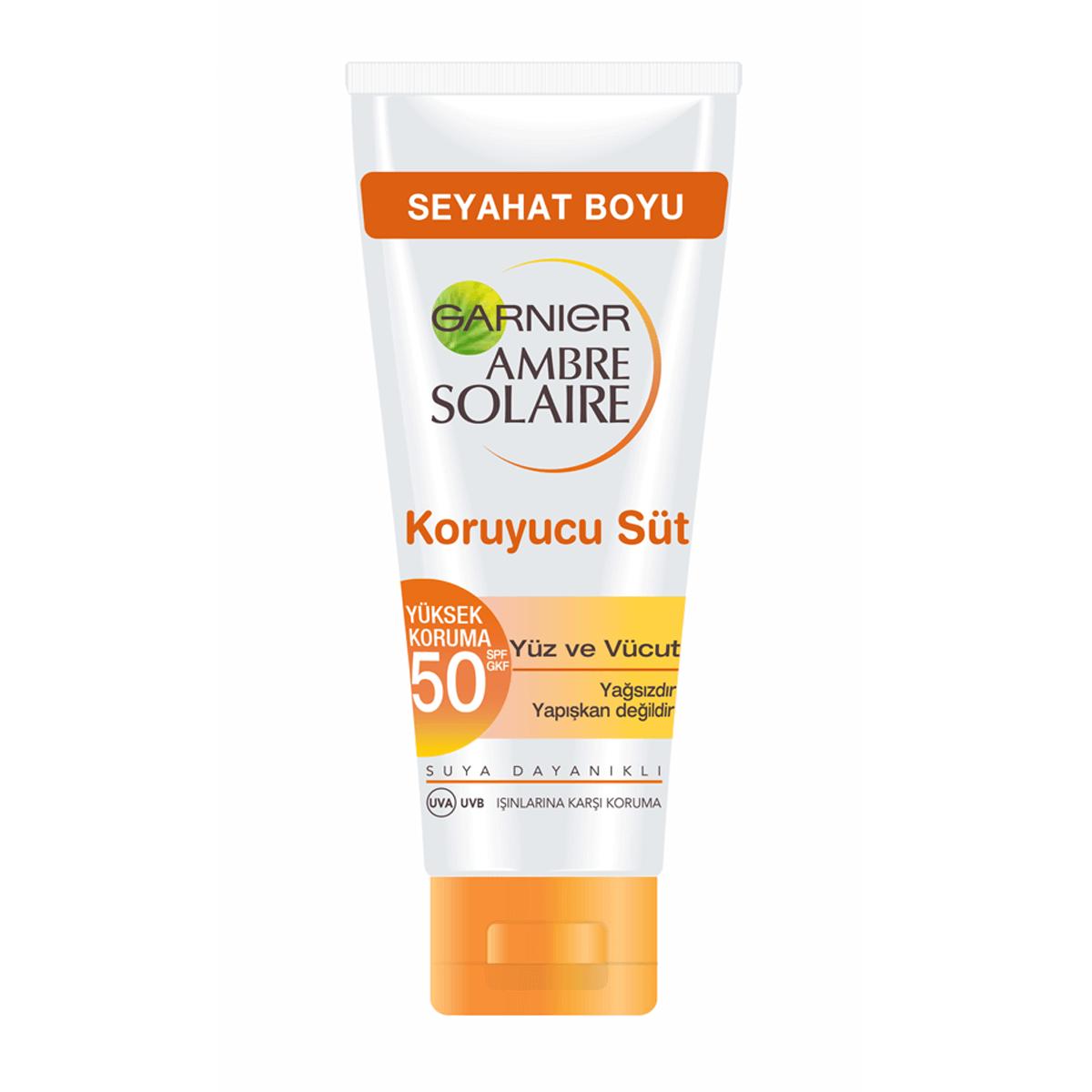 Ambre Solaire Yüz ve Vücut Güneş Kremi Koruyucu Süt SPF50 50 ml