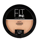 Fit Me Matte+Poreless Pudra 128 Nude
