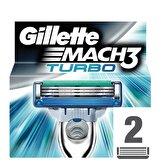 Mach3 Turbo Yedek Tıraş Bıçağı 2'li