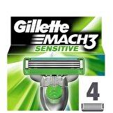 Mach3 Sensitive Yedek Tıraş Bıçağı 4'lü