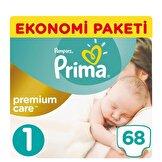 Premium Care 1 Beden Yenidogan Ekonomi Paketi Bebek Bezi 68 Adet