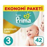 Premium Care 3 Beden Midi Ekonomi Paketi Bebek Bezi 42 Adet