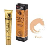 Derma Makeup Cover Porselen Fondöten Bronze