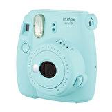 Instax Mini 9 Fotoğraf Makinesi Buz Mavi + Hediye Instax Mini Film 10'lu