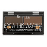 Brow This Way Kaş Şekillendirme Kiti Dark Brown