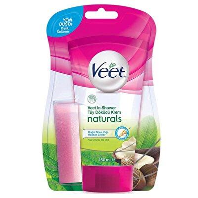 Naturals Shea Yağlı Duşta Tüy Dökücü Krem Hassas Ciltler İçin 150 ml