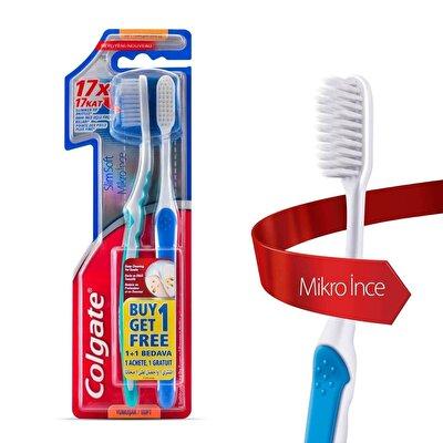Mikro İnce Compact Diş Fırçası 1+1