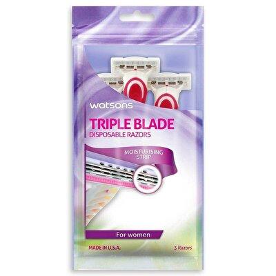 Ladies Üç Bıçaklı Kullan-At Tıraş Bıçağı 3 Adet