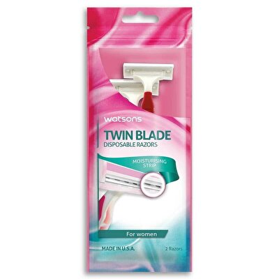 Ladies Twin Blade Disposable Razor 2 Adet