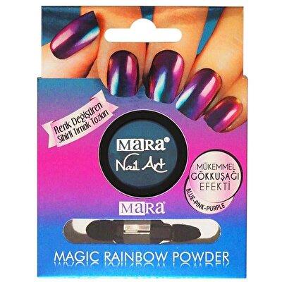 Nail Art Magic Rainbow Powder - Gökkuşağı Blue