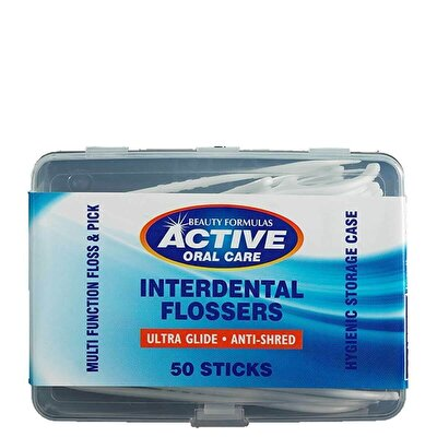 Active Waxed Flossers 50 Adet