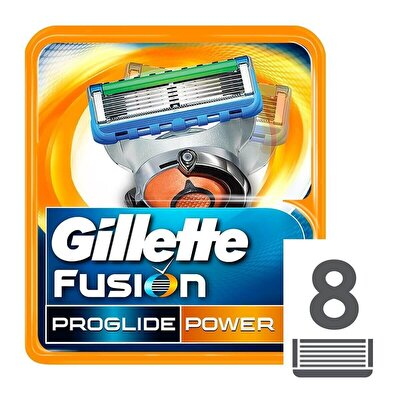 Fusion ProGlide Power Yedek Tıraş Bıçağı 8'li Karton Paket