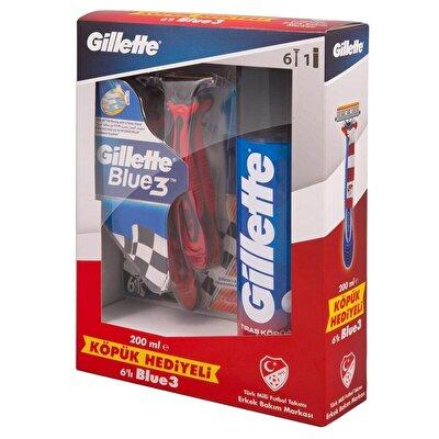 Blue3 Milli Takım Özel Paketi 6'lı Tıraş Bıçağı + 200 ml Tıraş Köpüğü
