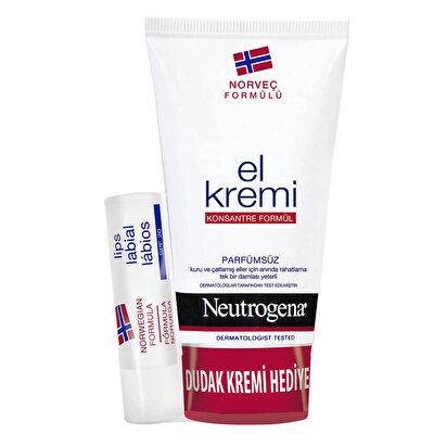 El Kremi 75 ml + Hediye Dudak Nemlendiricisi Seti Parfümsüz